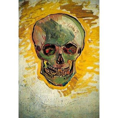 Vincent Van Gogh Skull Art Print Poster - 13X19 Custom Fit With Richandframous Black 13 Inch Poster Hangers