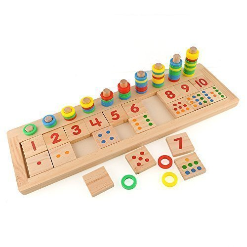 Colourful-Montessori-Teaching-Tool-Math-Number-Wood-Board-Preschool-Toy-Kid