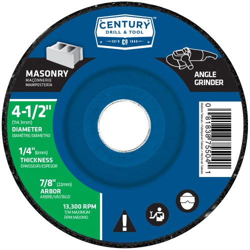 century-drill-and-tool-75504-masonry-wheel-4-1-2-inch-x-1-4-inch-by-century-drill-tool