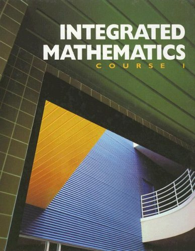 Integrated Mathematics: Course 1 PDF