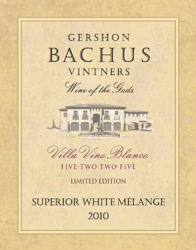 2010 Gershon Bachus Villa Vino Blanco Superior White Melange 750 Ml