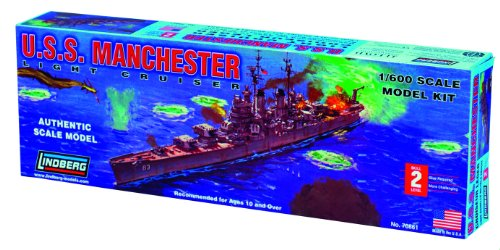 Lindberg U.S.S. Manchester Light Cruiser Building Kit