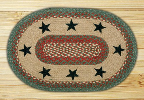 Earth Rugs 65-025GS Green Stars Oval Patch