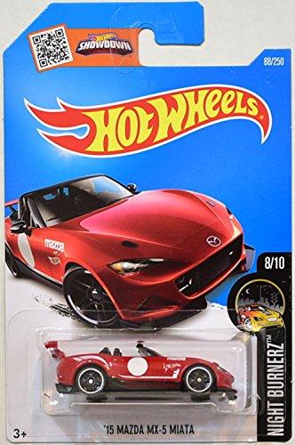 Hot Wheels, 2016 Night Burnerz, '15 Mazda MX-5 Miata [Red] #88/250 (Mazda Miata Model Car compare prices)