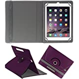 ACM ROTATING 360° LEATHER FLIP CASE FOR APPLE IPAD AIR 1 TABLET STAND COVER HOLDER PURPLE