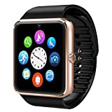 Qiufeng® GT08 Bluetooth Smart Watch SmartWatch with Camera for Iphone and Android Smartphones(GT08 Golden)