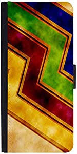 Snoogg Waves Yellowdesigner Protective Flip Case Cover For Samsung Galaxy Ace...