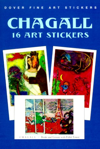 Chagall: 16 Art Stickers (Dover Art Stickers)