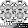 2006-2007 Hyundai Sonata 16 Inch Chrome Clip-On Hubcap Covers