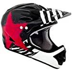 Kali Protectives Durgana Tam Helmet, Medium, Black/Red