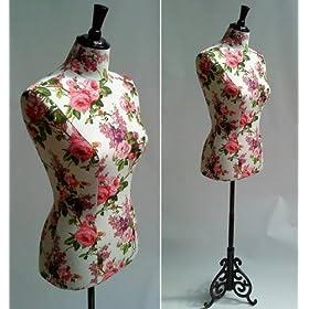 Shabby Rose Life Size Dressmakers Mannequin