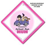 School Run Sign School Run Car Sign School Run Mum Baby on Board Sign Car Safety Window Sign Baby On Board Decal Bumper Sticker Baby Sign Baby Car Sign School Run Signs Maternity