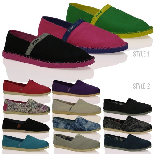 T1 Unisex Slip On Casual Plimsoles Espadrilles Casual Comfortable Summer Shoes Size
