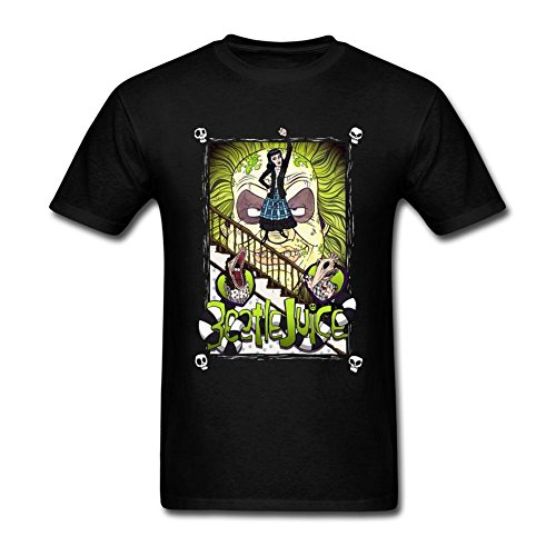 SUNRAIN Men's Beetlejuice Movie Poster Art T Shirt - 3 Colors - S to XXXL