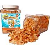 TunaTreats - Gourmet Dried Bonito Flakes Cat Treats - 2oz Easy Grip Container