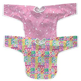 iPlay Best Bib Long Sleeve 2pk-Girl