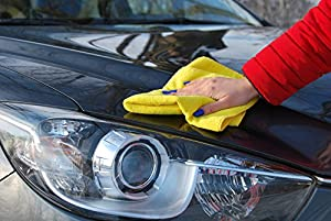 Mr. Spiffy Microfiber Cleaning Cloth [10-pack] - Best Cleaning Wipes - Bath Towels - Dish Towels - Glasses Cleaner, for Home and Kitchen, Car Wash, Auto Care - Polishing&waxing, LCD Screen