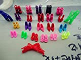 BESTIM CHEAP 12 pairs of Different Design Style Multi-Color of Barbie Dolls Sandals