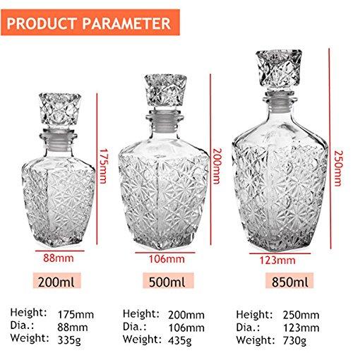 Design decanter glass liquor whiskey wine bottle barware cocktails