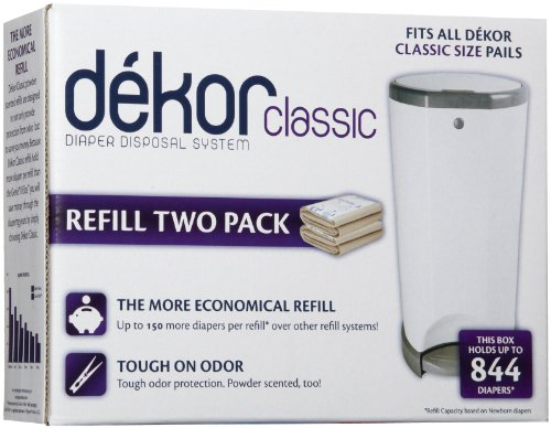 Diaper Dekor Pack of 2 Classic Refills