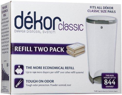 Diaper Dekor Pack of 2 Classic Refills