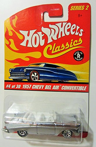 1957 Chevy BEL AIR Convertible (Silver) 2005 Hot Wheels Classics 1:64 Scale Series 2 Die Cast Vehicle - 1