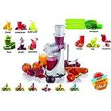 Cierie Fruits & Vegetable Juicer With Waste Collector, Steel Handle, Manual Juicer, Natural Fruit Juicer (ABSJuicer-White)