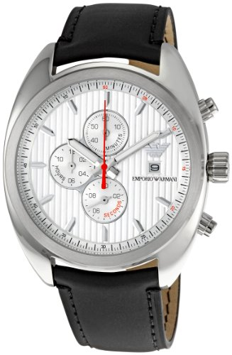 35721322c140 Emporio Armani AR5911 - Reloj analógico de cuarzo para hombre con correa de  piel