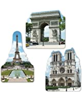 French Cutouts Party Accessory (1 count) (3/Pkg)