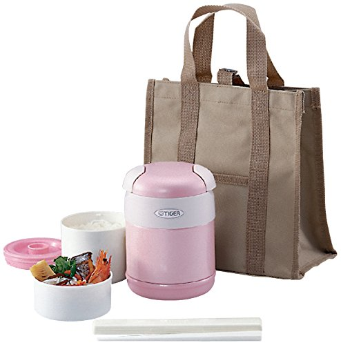 Tiger Corporation LWR-A072 Thermal Lunch Box, Pink (Tiger Food compare prices)