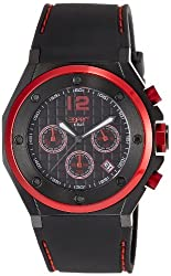 Esprit Solano Red Analog Black Dial Mens Watch - ES104171002