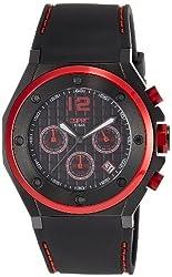 Esprit Solano Red Analog Black Dial Mens Watch - ES104171002