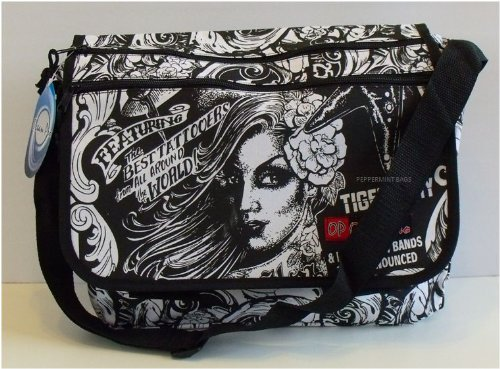 Miami Girls Tattoo Messenger Bag School College Student Satchel - Peppermint Bags
