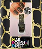 New! Barry M Instant Nail Effects - Black Croc Nail Polish 10ml
