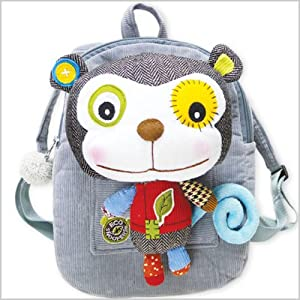 Eco Snoopers / Backpack with Removable Plush, Play it Again Sam Monkey