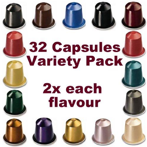 32 NESPRESSO CAPSULES Starter Pack, 2x FULL COFFEE RANGE