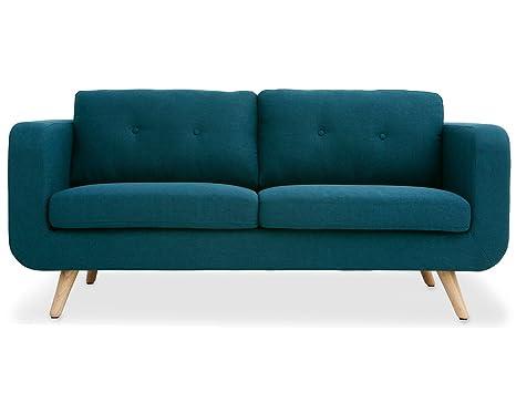 Oxydesign Sofa Azul 2/3 plazas diseño escandinavo – Bori