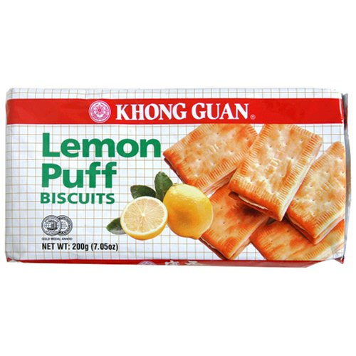 Buy Khong Guan Lemon Puff Biscuits, 7.05 Ounce Pack (Pack of 24) (Khong Guan, Health & Personal Care, Products, Food & Snacks, Snacks Cookies & Candy, Cookies)