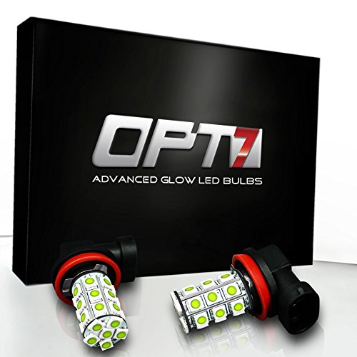Opt7® H10 Advanced Glow 27-Smd Led Fog Light Bulbs - 6000K Cool White - Plug-N-Play (Pack Of 2)