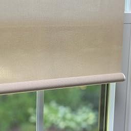 Best Home Fashion Premium Linen Look Roller Window Shade - Mushroom - 24\