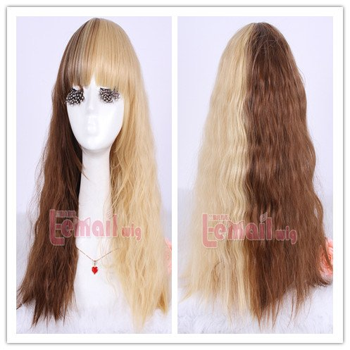 NEW 55cm Long Rhapsody Mix Curly Wave Cosplay Wig Zy11-b email marketing