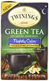 Twinings Green Tea Bags, Nightly Calm, 20 Count (Pack of 6)