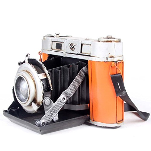 Retro Vintage Classic Iron Sheet Camera Props Movie Photography Model Home Display Cafe Workplace Decoration 1