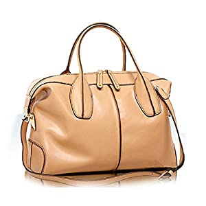 Kattee Women's Fashion Simple Design Genuine Leather Hobo Tote Shoulder Bag