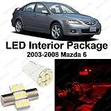 Splendid Auto Brilliant Red LED Mazda 6 Interior Package Deal 2003 - 2008 (8 Pieces)