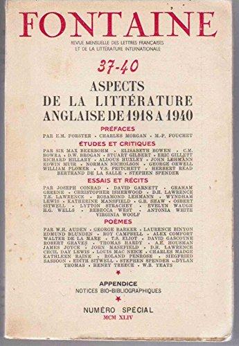 Revue Fontaine numéros 37-40 : Aspects de la littérature anglaise de 1918 à 1940