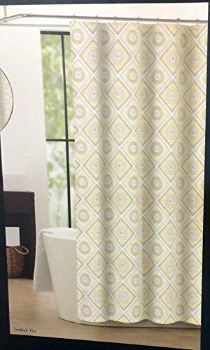 Nicole Miller Home Shower Curtain Turkish Tile   Yellow Gray White