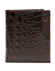 RL W 39- Br Brown Leather Miller Wallet For Men