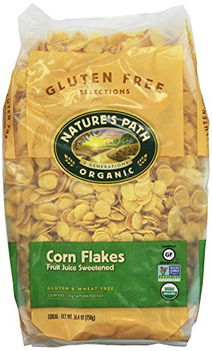 Nature's Path Organic Corn Flakes Cereal  Fruit Juice Sweetened, 26.4-Ounce Bags (Pack of 6) (Organic Corn Flakes Cereal compare prices)