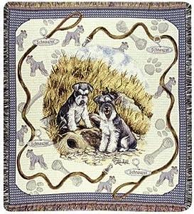 "Schnauzer Dog Tapestry Throw By Artist Pat Lehmkuhl 50"" x 60"""